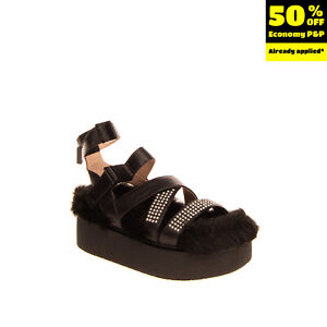 RIGHT SHOE ONLY RRP €190 DIESEL SA-CAGE F Ankle Strap Sandal EU 39 UK 6 US 8.5