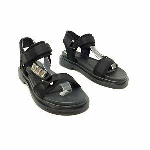 River Island Black Strappy Sandals Shoes UK 6 EU 39 Casual Flat