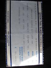 QPR V WEST HAM UNITED 15/10/1988  USED TICKET STUB