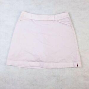 Nike Golf Fit Dry Women's Pink Back Zip 4 Pocket A-Line Golf Skort Size 2