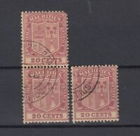 Mauritius KGV 1921 20c x 3 SG221 CDS VFU J7232