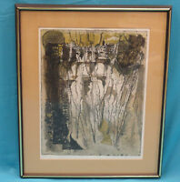 FASCINATING 50s SIGNED SUZANNE RUNACHER ARTIST PROOF LITHO *LISTED FRENCH ARTIST