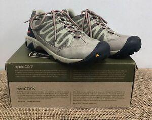 NIB Keen 1008828 Women's Verdi WP Brindle/Hot Coral Hiking Shoe 6