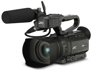 JVC GY—HM170E 4K CAM Compact Professional Camcorder with Top Handle Audio Unit