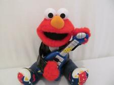 Rock and Roll Elmo with Guitar Plush 1998 Sings 2 Songs 14 in tall