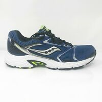 Saucony Mens Grid Oasis 25096-9 Silver Blue Running Shoes Lace Up Size 10.5