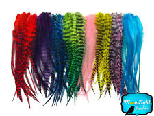 100 Pieces - Colorful Medium Length Rooster Hair Extension Feathers Wholesale