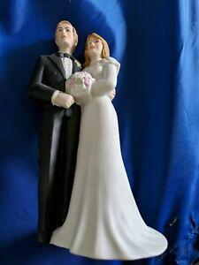Ceramic Bride and Groom Wedding Topper Figurines