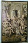 """ANTIQUE NEEDLEPOINT TAPESTRY CLASSICAL MUSIC SCENE FRAMED FRENCH (?) 55""""x 34.75"""""""