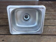 """Stainless Steel Sink Basin Small Concession Bar 12"""" X 10"""" Drop Metal Single"""