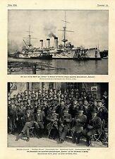 Volcán astillero Bredow Szczecin japonés acorazado Yakumo la tripulación 1900