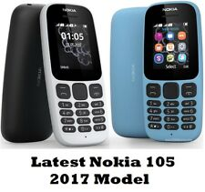 *New* NOKIA 105 Dual Sim Unlocked Black Smart Classy bluetooth Cheap Phone