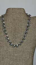 VTG DESIGNER SIGNED BOGOFF ICY BLUE AURORA BOREALIS NECKLACE