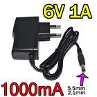 Adaptateur Secteur Alimentation Chargeur AC DC 220V 6V 1A 1000mA 6W 5,5mm 2,1mm