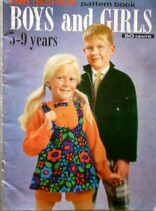VINTAGE 1970'S ENID GILCHRIST SEWING BOOK~BOYS & GIRLS 5 - 9 YEARS~ PATTERN BOOK