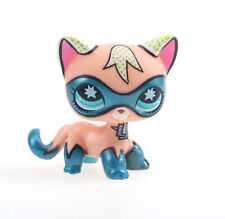 Littlest pet shop Figure Toy Comic Con  Super hero Kitten Kitty Blue Eyes Cat