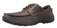 Skechers USA Men's Expected Gembel Relax Fit Oxford, Dark Brown, Size US 8.5