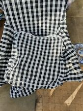 JENNY LUND ARMCHAIR COVER BOLD BLACK/WHITE CHECK GOOD CONDITION