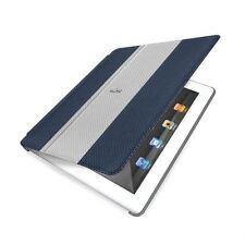 Etui iPad 2 ou 3 Simili cuir Bleu avec couvercle Magnétique Auto On/Off