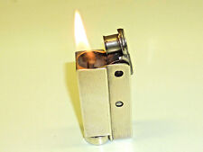 VINTAGE POCKET PETROL WICK LIGHTER WITH 925 SILVER CASE SIMILAR TO IMCO - RARE