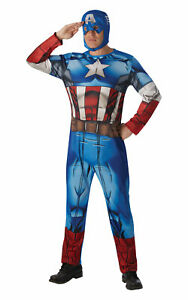 Official Rubies Mens Classic Captain America Extra Large Adult Costumes Marvel