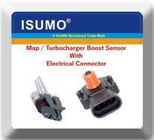 Manifold Absolute Pressure Sensor 16249939 W/Connector For: GM ISUZU SAAB SATURN