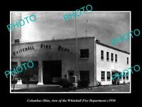 OLD LARGE HISTORIC PHOTO OF COLUMBUS OHIO, THE WHITEHALL FIRE DEPARTMENT c1950
