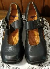 Vintage 1990's Rocket Dog Black Leather Mary Jane Chunky Heel Womans Size 10M