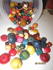 Lot of mixed wood beads jewelry craft b132