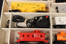LIONEL 2029 ELECTRIC TRAIN SET 7 WITH BOX STEAM FREIGHT W/ WHISTLE SMOKE #11500
