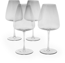 VonShef Set of 4 Tinted Large Wine Glasses,  White Wine and Red Wine Glasses