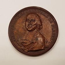 Suisse Genève Médaille par Dassier Cardinal de Fleury Paix de 1735