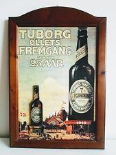 Tuborg Beer , quadro pubblicitario in legno