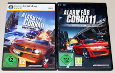 2 PC juegos set-alarma para cobra 11-Highway Nights & el sindicato-DVD funda