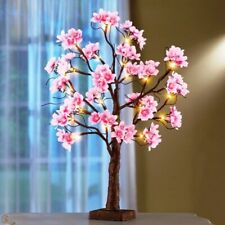 """Lighted Cherry Blossom Floral Tabletop Tree Table Top Home Elegant 22""""H Decor"""