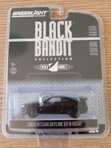 Greenlight 1/64 2000 Nissan Skyline GT-R R34 Black Bandit Christmas Gift
