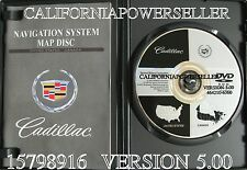 2004 2005 2006 2007 Cadillac XLR XLR-V Navigation DVD Map Version 5.00 US Canada