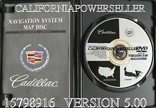 2004 2005 2006 2007 Cadillac XLR XLR-V Navigation DVD Map Version 5.00 US Canada