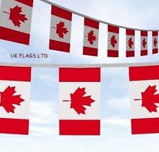 10M - 33FT CANADA DAY 1ST JULY CANADIAN MAPLE LEAF FLAG BUNTING Drapeau Canadien