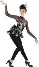 Costume Gallery Black Sequin Jazz Tap -Dance Dress Up Child L 12 14