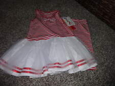 NWT NEW BOUTIQUE KATE MACK 5 RED AND WHITE STRIPED DRESS CAPRI SET