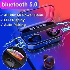 Беспроводные наушники TWS Bluetooth 5.0 гарнитура мини светодиодный наушники стерео наушники