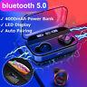 TWS Wireless Earphones bluetooth 5.0 Headset Mini Earbuds LED Stereo Headphones
