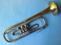 Goldene Trompete Teleskop D.R.P. № 320723 A.K.H. Hüttl Graslitz Kraslice ~1925