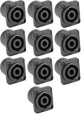 10x Speakon kompatible Einbaubuchse 4-polig, Speaker-Buchse Einbaukupplung NEU
