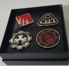 Gears of War Set of 4 Enamel Pins - Lootcrate Limited Edition GoW LAPEL PINS!