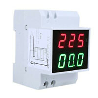 Digital Din-Rail LED Voltaje Amperimetro Medidor de Corriente Voltimetro AC S9A3