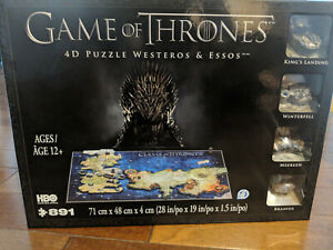 4D CITYSCAPE Game of Thrones Map of Westeros & Essos 891pcs 3D PUZZLE NEW