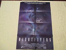 1987 Nightflyers  original! 27x41 1 sheet movie poster VG+