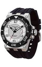 Jorg Gray JG9600-11 Mens Watch White Dial Swiss Movement Black Rubber Strap
